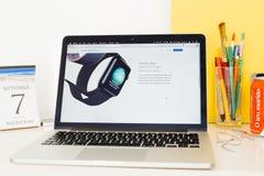 Apple-Computer Website, welche die Atmungs-APP zur Schau stellt Stockbilder
