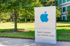 Apple Computer World Headquarters and Logo Royalty Free Stock Image
