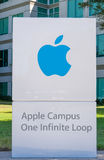 Apple Computer World Headquarters and Logo Royalty Free Stock Photos