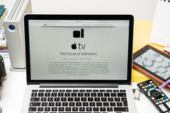 Apple Computers new iPad Pro, iPhone 6s, 6s Plus and Apple TV Stock Image