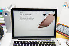 Apple Computers new iPad Pro, iPhone 6s, 6s Plus and Apple TV Royalty Free Stock Photography