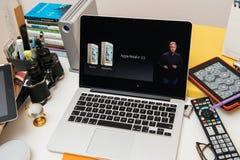 Apple Computers new iPad Pro, iPhone 6s, 6s Plus and Apple TV Stock Photo