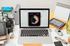 Apple-Computers nieuwe iPad Pro, iPhone 6s, 6s plus en Apple-TV Stock Fotografie