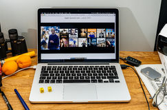 Apple Computers at WWDC latest announcements of Amazon Prime vid Royalty Free Stock Photos