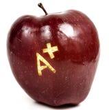 Apple con A+ Fotografie Stock Libere da Diritti