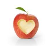 Apple con cuore modella immagine stock libera da diritti