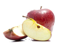 Apple con due tagli Fotografie Stock Libere da Diritti