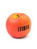 Apple con el código de barras imagen de archivo libre de regalías