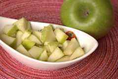 Apple con el limón Imagen de archivo libre de regalías