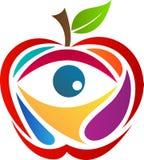 Apple con el ojo ilustración del vector