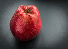 Apple con gotas del agua Imágenes de archivo libres de regalías