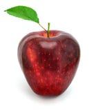 Apple con il foglio fotografia stock