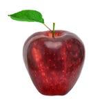 Apple con il foglio fotografia stock libera da diritti