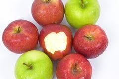 Apple con il morso Immagine Stock