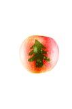 Apple con il simbolo di Natale Immagine Stock