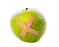 Apple con intonaco immagine stock
