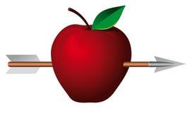 Apple con la flecha Imagen de archivo libre de regalías