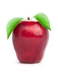 Apple con la hoja Fotografía de archivo libre de regalías