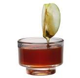 Apple con la miel Imagen de archivo libre de regalías