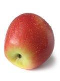 Apple con las gotas (primer) Fotografía de archivo