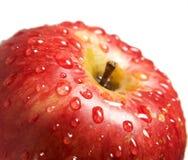 Apple con le gocce dell'acqua Fotografie Stock Libere da Diritti