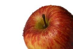 Apple con los waterdrops foto de archivo