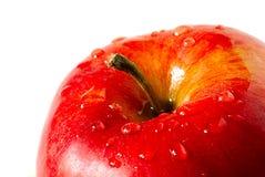 Apple con rocío de la gota Fotografía de archivo