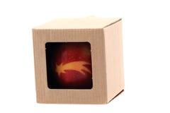 Apple con símbolos de la Navidad Imagen de archivo
