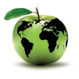 Apple - conceito da terra Fotografia de Stock