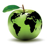 Apple - concetto della terra Fotografia Stock