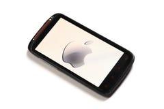 Apple contro il Android Fotografie Stock Libere da Diritti