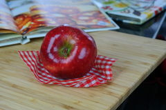 Apple and cook books Royalty Free Stock Images