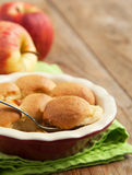 Apple cookie crumble. Stock Images