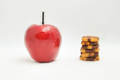 Apple and cookie. Royalty Free Stock Image