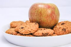 Apple Cookies With Chocolate Chips royalty free stock photo