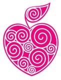 Apple-coração Fotografia de Stock