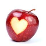 Apple, corazón Imagen de archivo libre de regalías