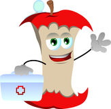 Apple core doctor with first aid kit Royalty Free Stock Photography
