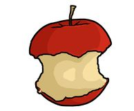 Apple Core Illustration Royalty Free Stock Photography