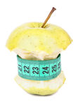 Apple core and meter Royalty Free Stock Photo