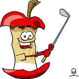 Apple core swinging his golf club Royalty Free Stock Photography