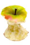 Apple Core w/ Path (Top View) Royalty Free Stock Image