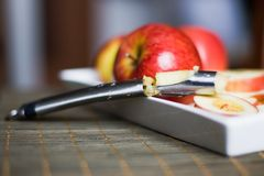 Apple corer and divider Royalty Free Stock Photography
