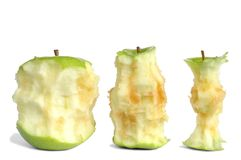 Apple Cores Royalty Free Stock Photos
