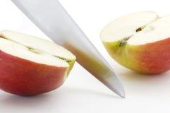 Apple cortó a través Foto de archivo libre de regalías