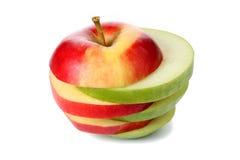 Apple a coupé en parts image stock
