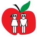 Apple couple Royalty Free Stock Photo