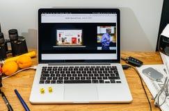 Apple Craig Federighi vede in anteprima l'alta sierra del MaOS al sa 2017 di WWDC Fotografia Stock Libera da Diritti