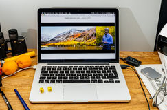 Apple Craig Federighi vede in anteprima l'alta sierra del MaOS a WWDC 2017 Immagini Stock