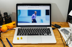 Apple Craig Federighi vede in anteprima l'alta sierra del MaOS a WWDC 2017 Fotografia Stock Libera da Diritti